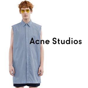 "ACNE Studios ""Stein"" sleeveless stripe shirt S/36"